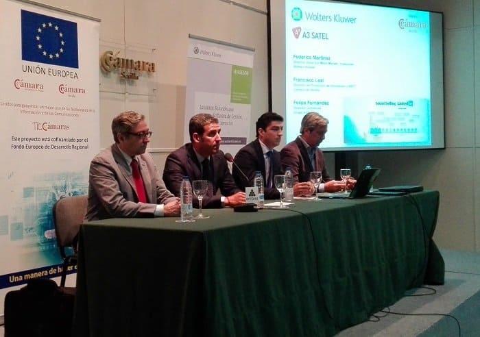 Casi un centenar de empresas acuden a la Cámara de Comercio de Sevilla para conocer las ayudas europeas dirigidas a PYMES, MICROPYMES y AUTÓNOMOS