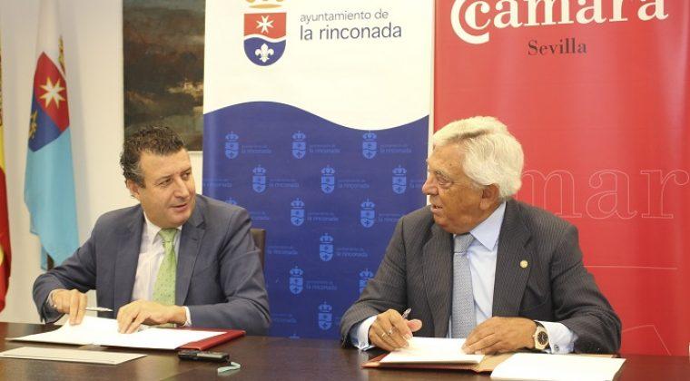 Ayuntamiento de la Rinconada y Cámara de Comercio firman un acuerdo de colaboración para el servicio 'Punto Cámara'