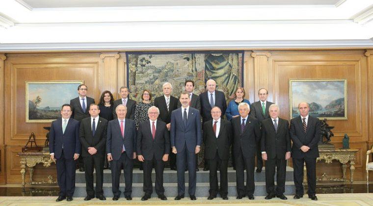 El Comité Ejecutivo de AICO, recibido por Su Majestad el Rey