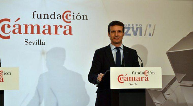 Pablo Casado, Presidente del PP en la Fundación Cámara